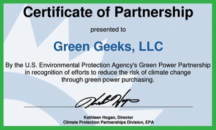 GreenGeeks EPA Partnership