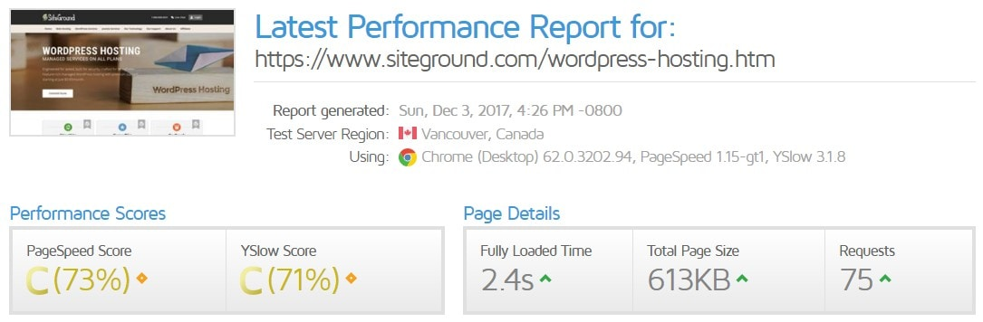 siteground pricing page speed