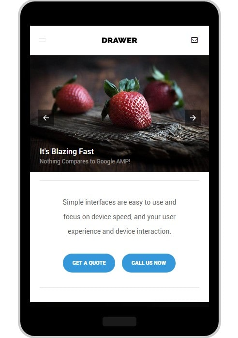 AMP-Schublade WordPress Thema