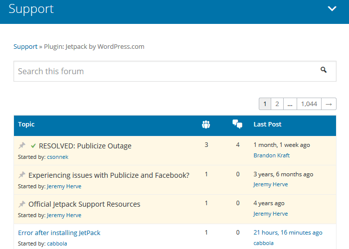 Free WordPress Plugins - Jetpack Support Forum