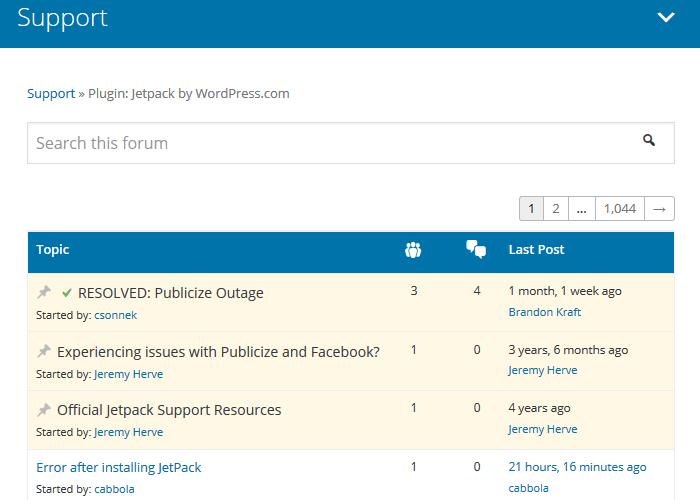 Бесплатно WordPress Плагины - Форум поддержки Jetpack