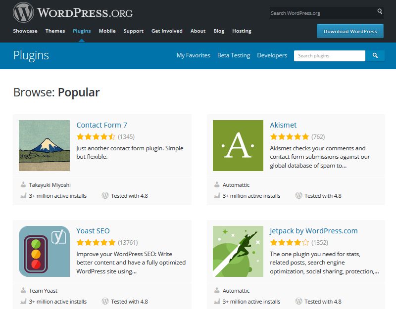 Free WordPress Plugins - WordPress Repository Example Plugins