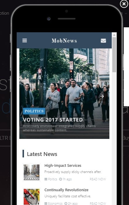 MobNews AMP WordPress Thema