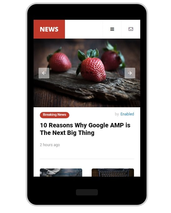 AMP News Mobile WordPress Thema