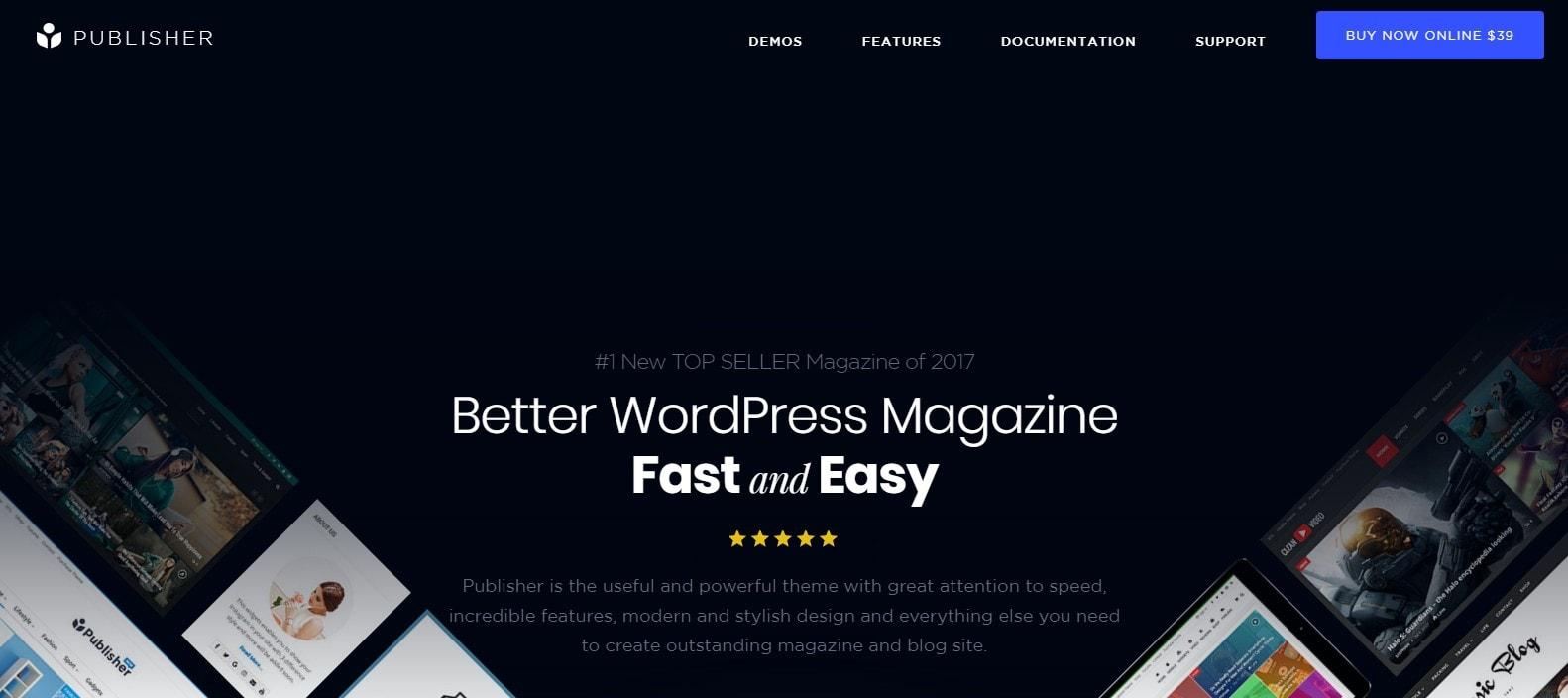Penerbit AMP WordPress tema