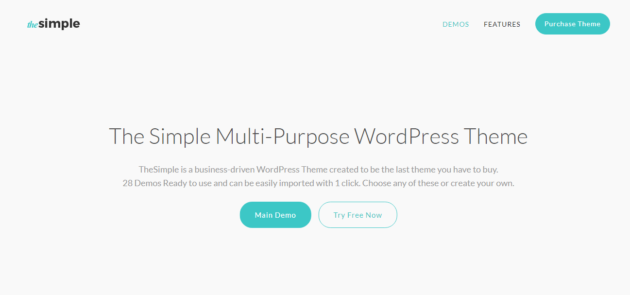 El simple AMP WordPress tema