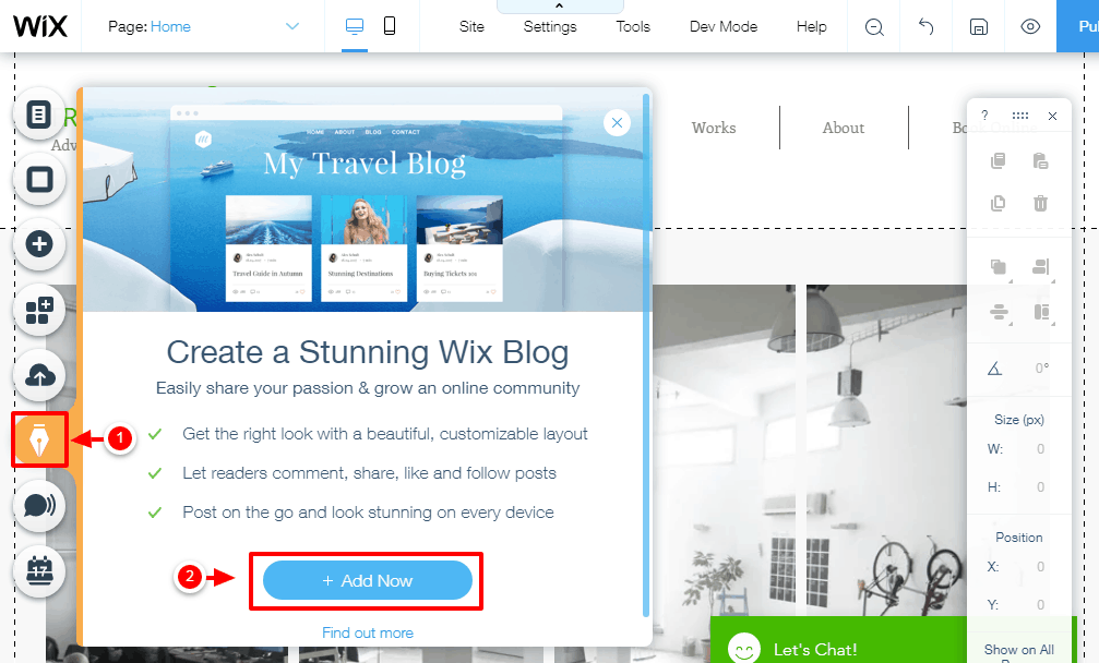 adding a blog to wix website