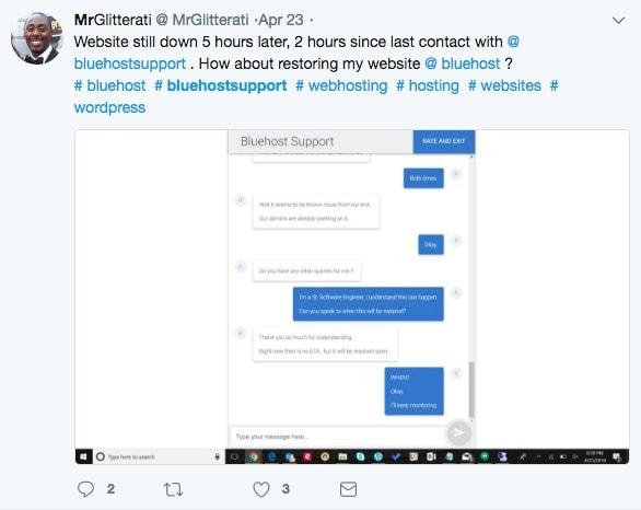 bluehost tweet