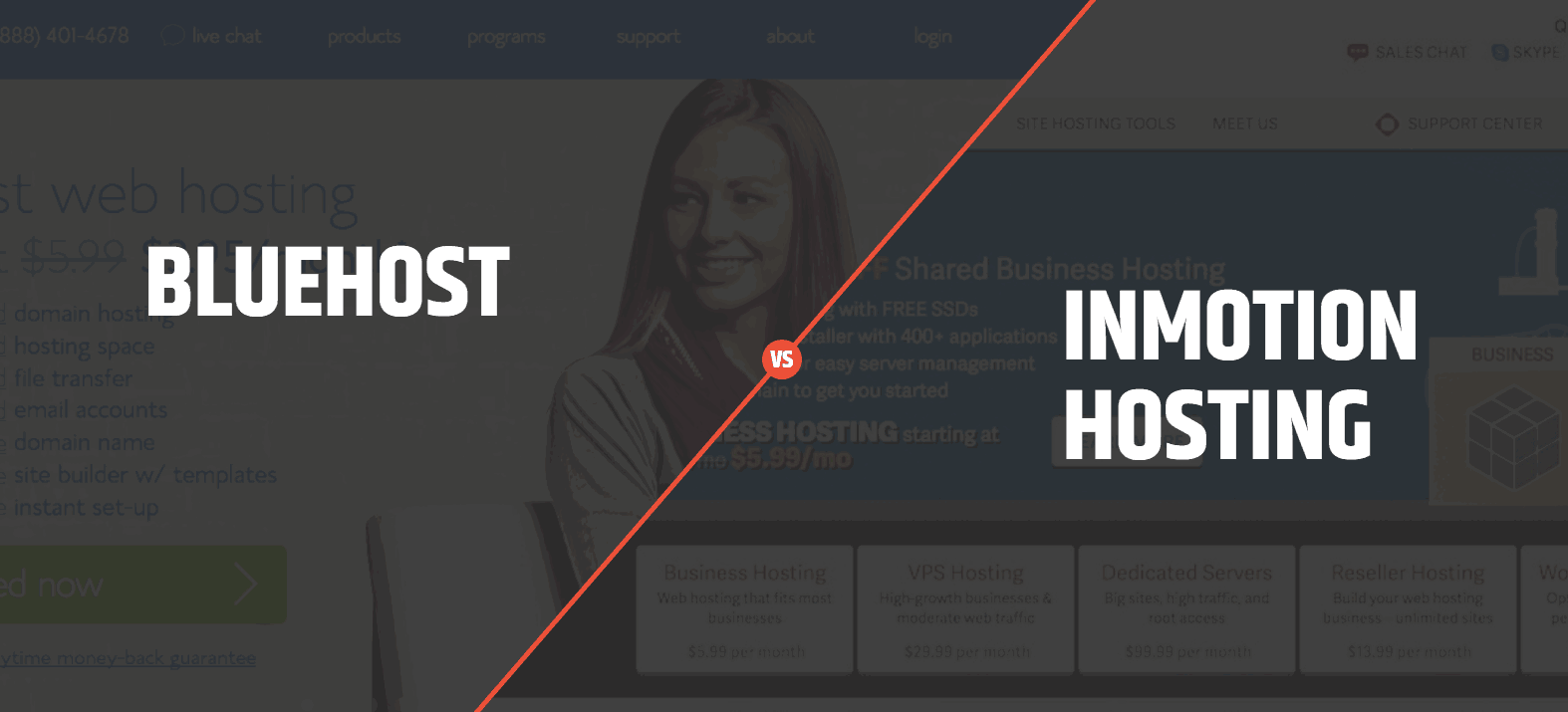 bluehost vs inmotion hosting