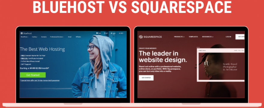 comparazione bluehost vs squarespace