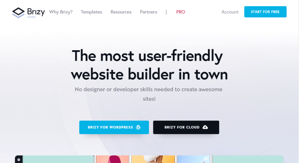 brizy wordpress sidebygger