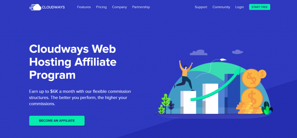 Programme d'affiliation d'hébergement Web Cloudways