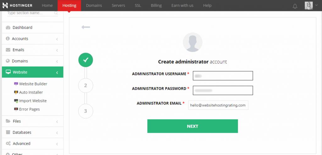 Создайте wordpress админ