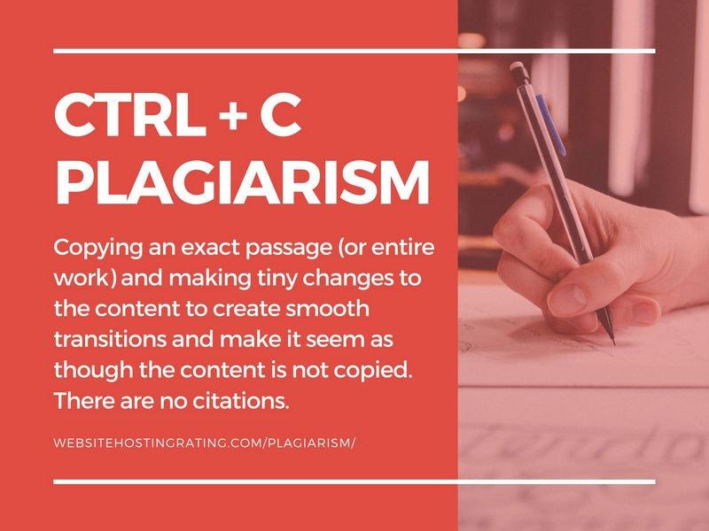ctrl + c plagiarism