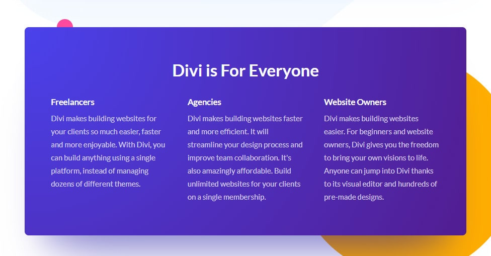 divi is for everyone
