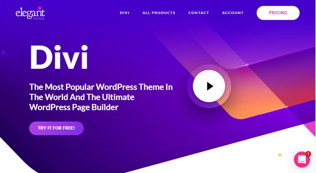 divi wordpress Themen- und Seitenersteller