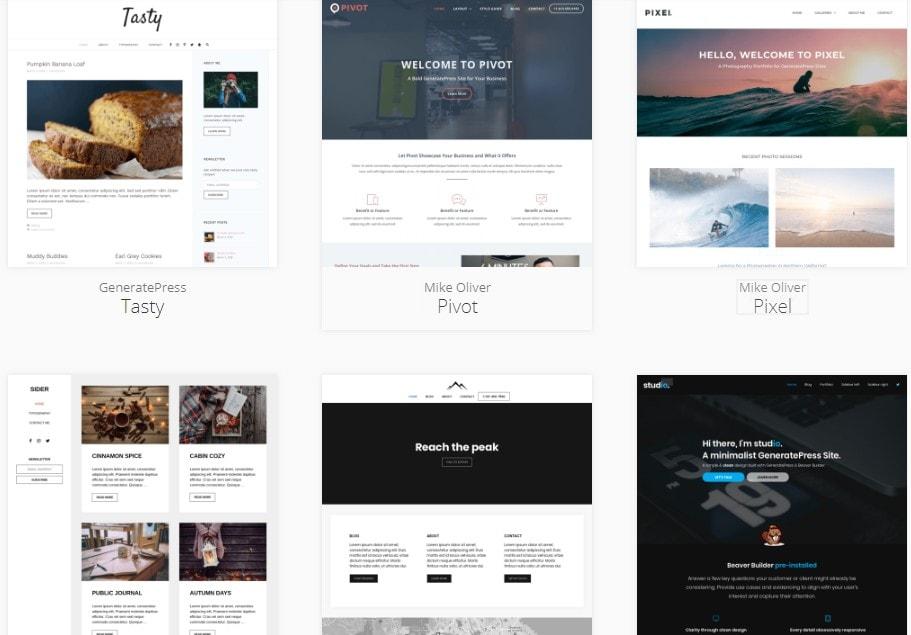 sites generatepress