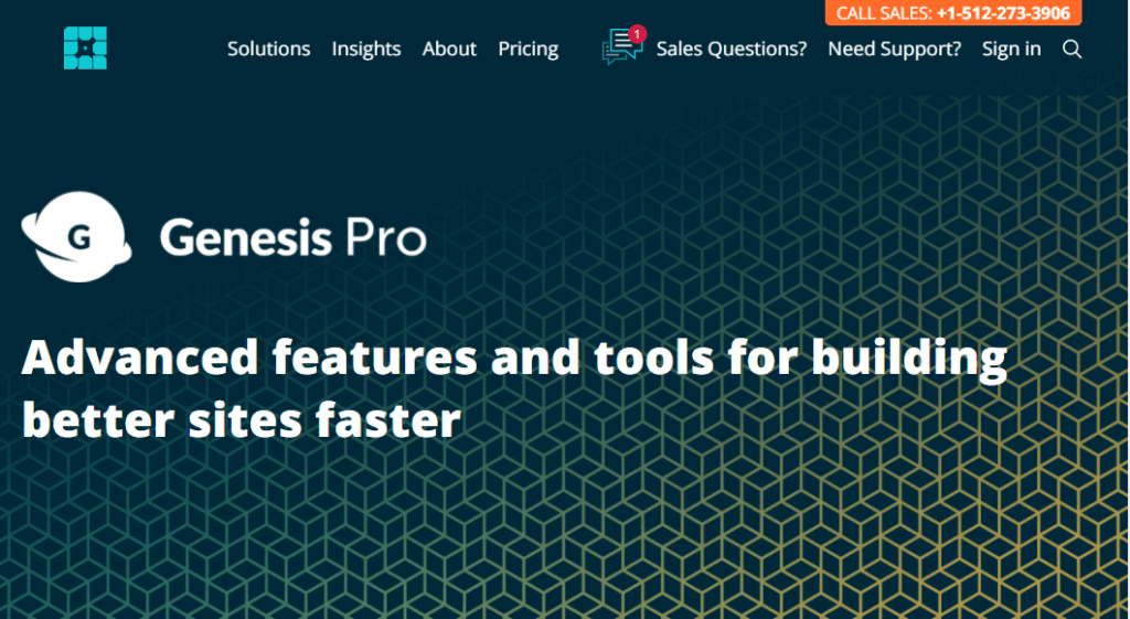 Genesis Pro wordpress Page Builder