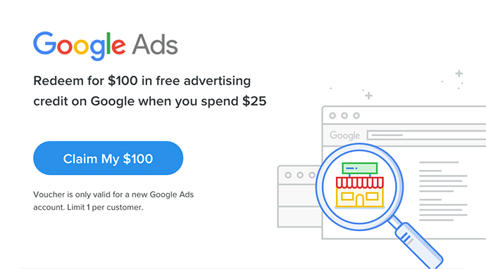 google ads $100 credit