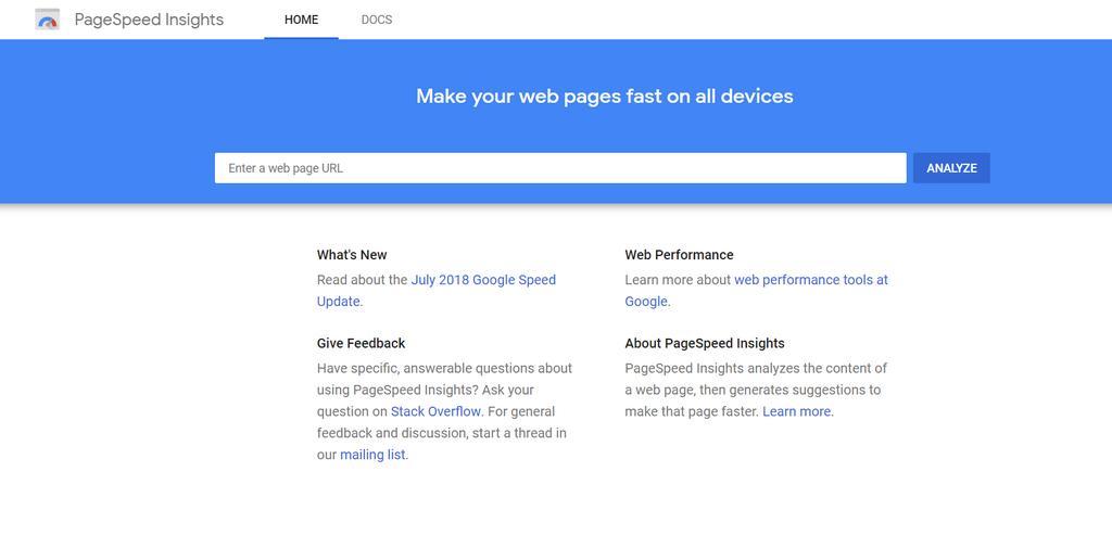 google sides hastighedsindsigt