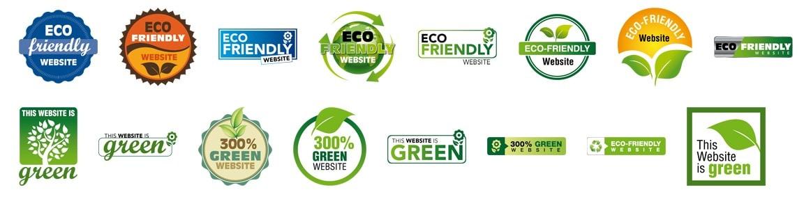lencana situs web hijau