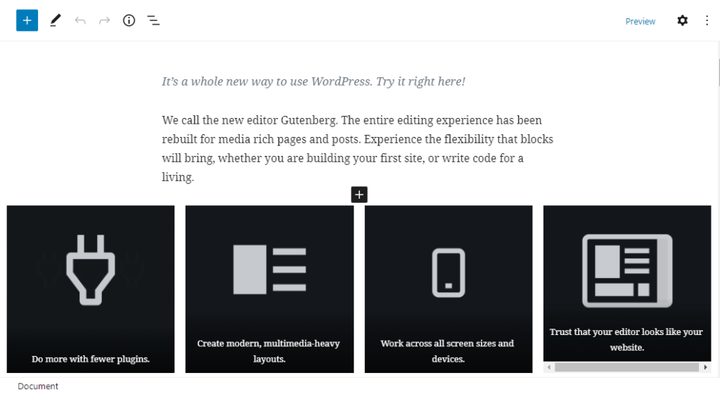 gutenberg wordpress sidebygger