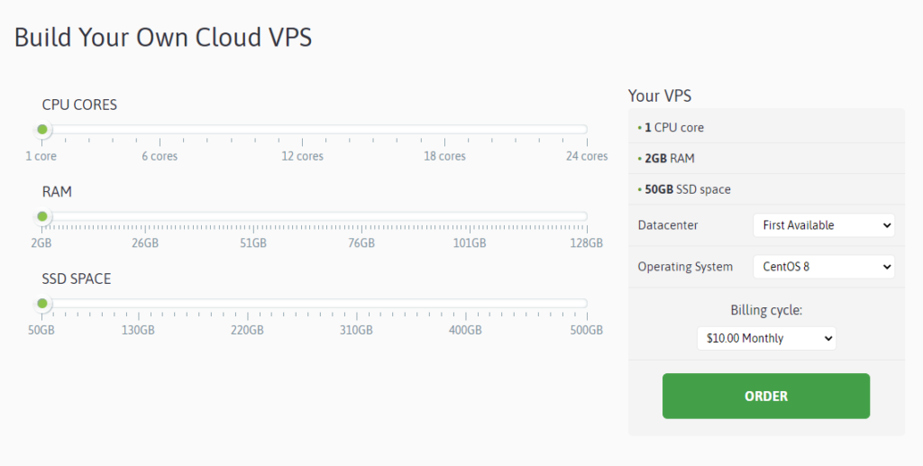 Scala cung cấp các giải pháp VPS đám mây tự quản lý có cấu hình cao