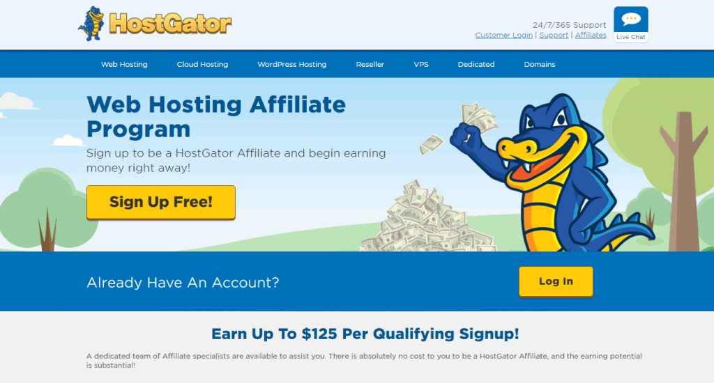 Programme d'affiliation d'hébergement Web HostGator