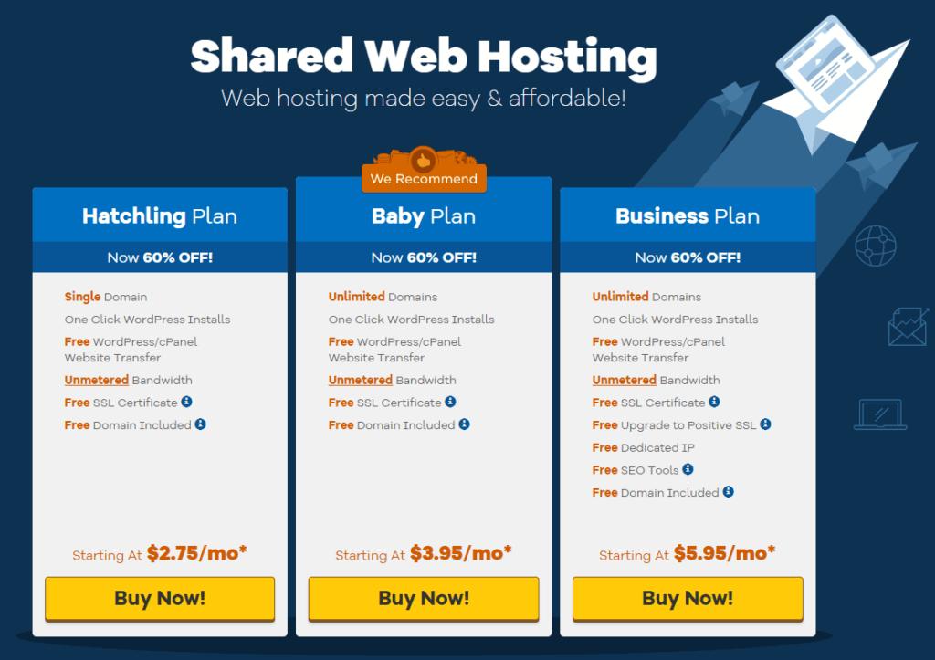 hostgator delt hosting