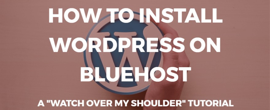 hvordan man installerer wordpress på bluehost