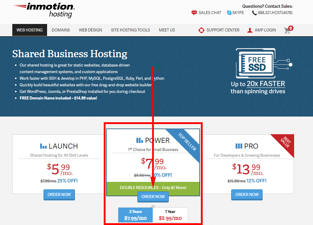 how to sign up with inmotion hosting