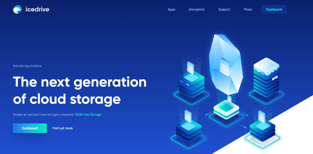 icedrive homepage