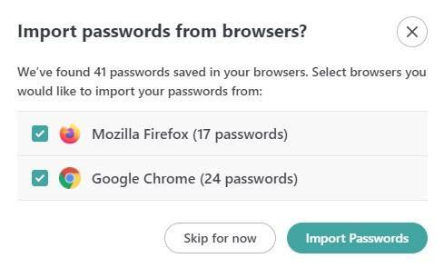 import passwords
