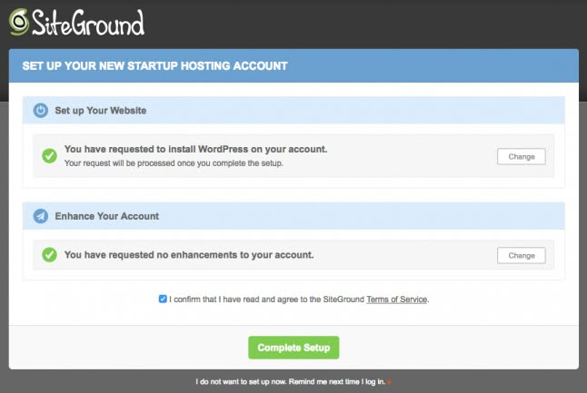 wordpress installera siteground