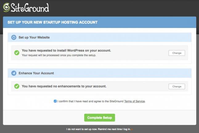 wordpress инсталирайте siteground