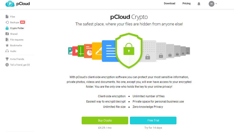 pcloud crypto zero kennis end-to-end encryptie