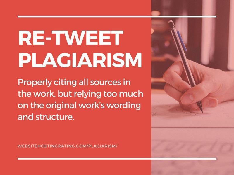 muling pag-tweet ng plagiarism