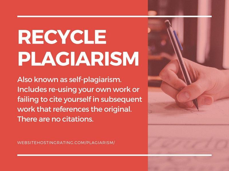 plagiarism ng recycle