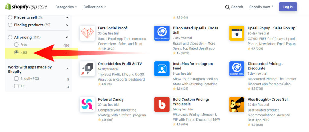 shopify paid apps