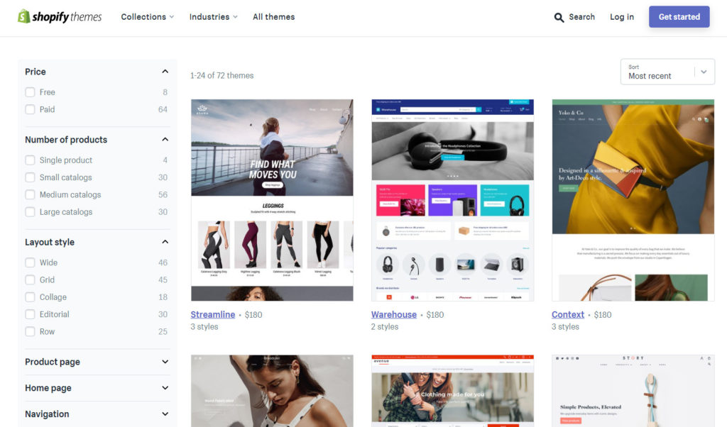 shopify themes - paid and free theme