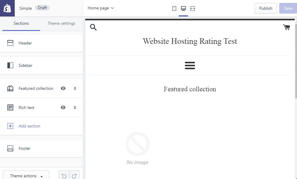 shopify editor di siti web