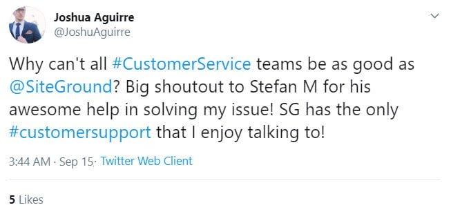 customer tweet