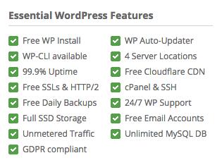 siteground essentiel wordpress funktioner