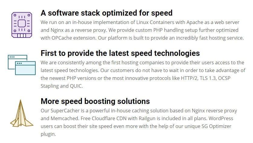 fast server infrastructure
