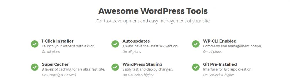WordPress siteground administreret hosting