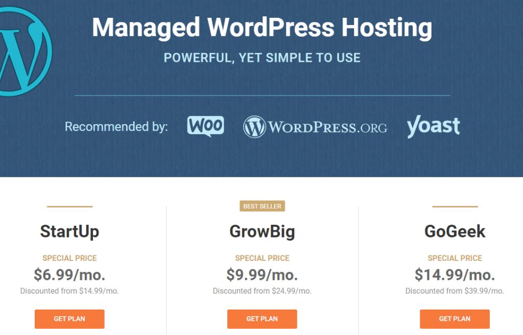 udało się siteground wordpress ceny hostingu