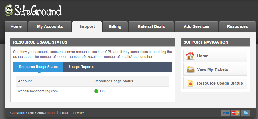resource usage