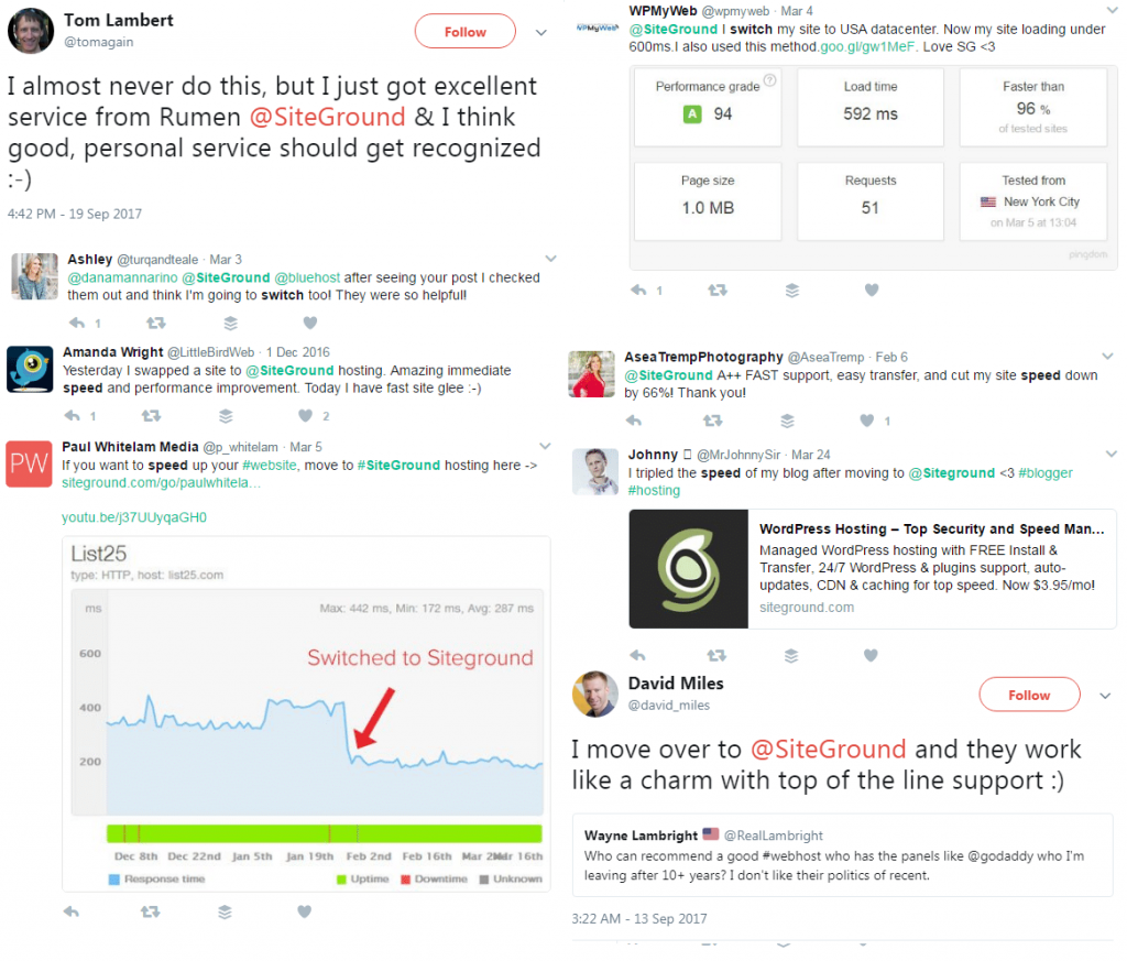 siteground reviews on twitter