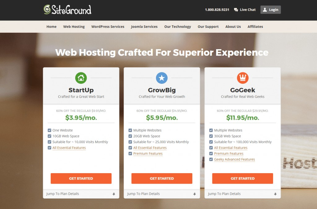 Wordpress Siteground-Hosting