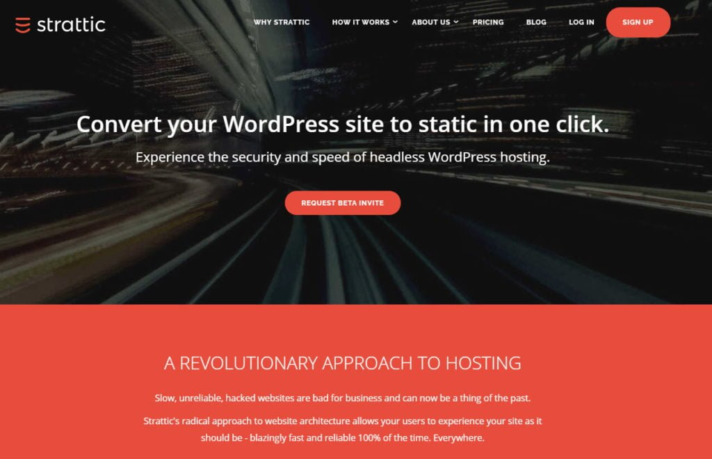 Strattic Headless Static wordpress Hosting